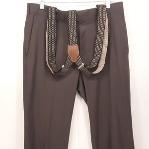Axist | Men's Gray Pants Sewn In BMC Suspenders